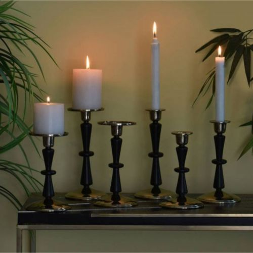 GRACE CANDLE STAND GOLD